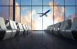 Leinwanddruck Bild - Airport-Lounge