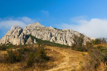 Pile of limestone rocks Syuryu-Kai, Karadag, Koktebel, Crimea