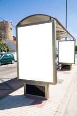 billboard at bus station