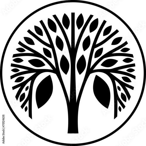 decorative tree in black