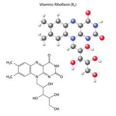 Riboflavin molecule - vitamin b1