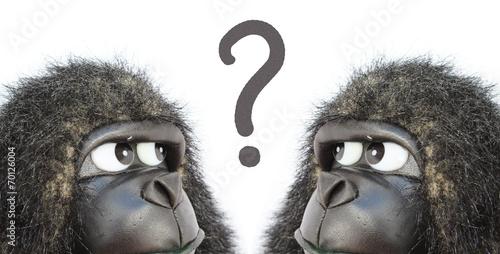 Foto op Canvas Aap Gorillas thinking
