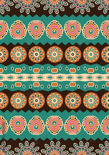 Abstract vector ethnic seamless pattern. - 70126282