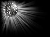 Fototapety Silver disco ball .