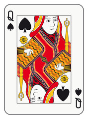 Queen of spades playing card