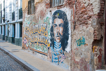 Graffiti en San Telmo, Buenos Aires