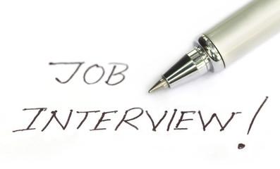 Job Interview written on a white paper