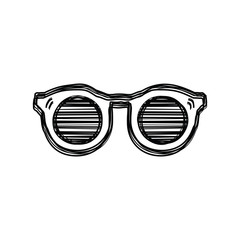 Vector of sketch doodle, glasses icon on isolated background