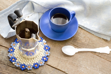 espresso coffee cup with espresso coffee maker