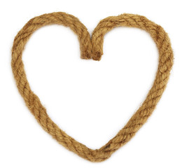 Rope making a heart shape