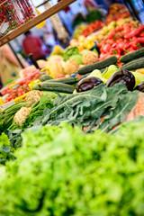vegetables on the market