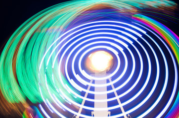 Abstract colorful light trails.