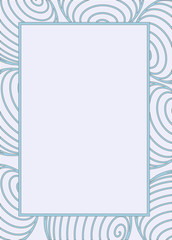 abstract border frame with pattern of blue line