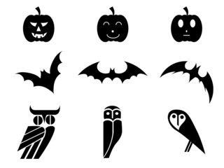 Black icon halloween vector Illustration