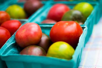 farmer market heirloom tomatoes