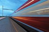 Fototapety Train in railway at speed