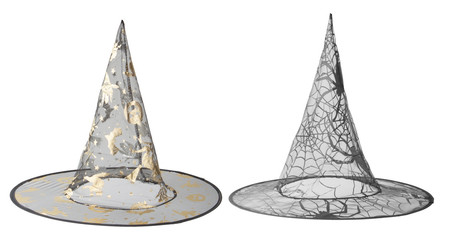Transparent black witch hats for Halloween