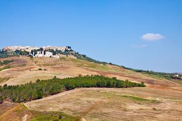 Basilicata, landscape with Irsina village