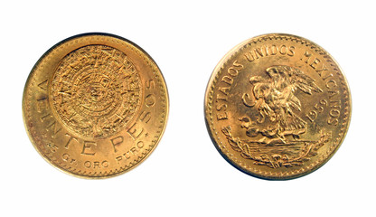 Mexico 1959 20 Pesos gold coin