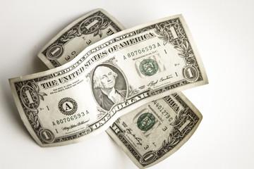 Dos billetes de 1 dólar