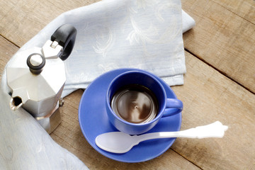 coffee cup with espresso coffee maker