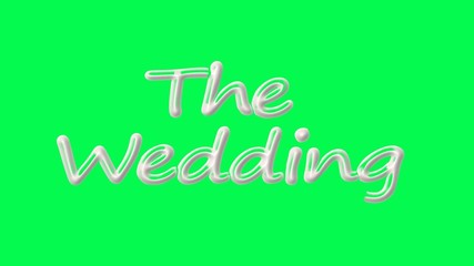 intro. the wedding. green