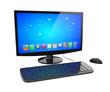canvas print picture - Desktop pc