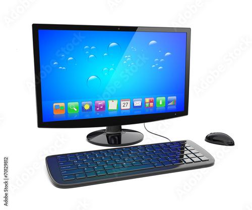 canvas print picture Desktop pc