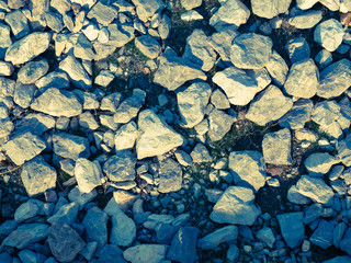 Boulders in nature as backgrounds: Filtered image:cross processe