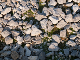 Boulders in nature as backgrounds