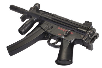 submachine gun MP5 isolated