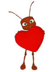 Ant with a heart
