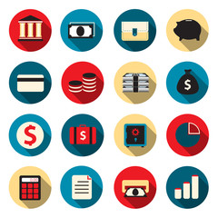 Banking color icons
