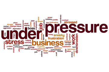 Under pressure word cloud