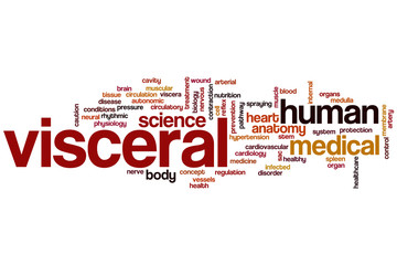 Visceral word cloud