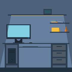 Vector illustration, office