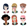 Woman avatar: Glasses set