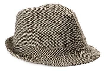 stylish men's hat isolated on the white background