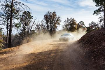 Dusty mountain road