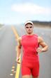 Running triathlon athlete runner