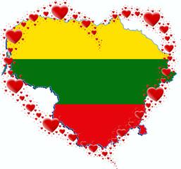 Litwa i s #70132207 - litwa mapa i serce z serc.jpg Uerce z serc