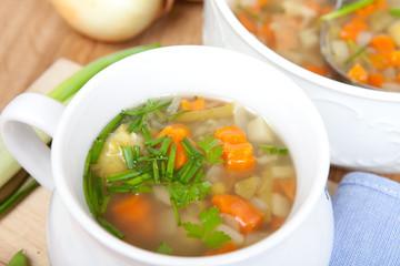 Gemüseeintopf, fleischlos, vegetarisch, mit frischen Kräutern