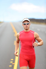 Running triathlon athlete runner