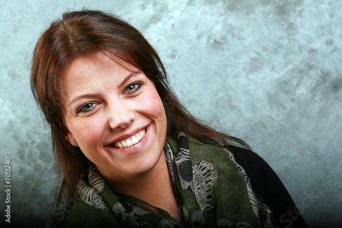 canvas print picture Portrait einer hübschen jungen Frau