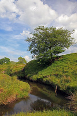 River flowing in the Peak District National Park.