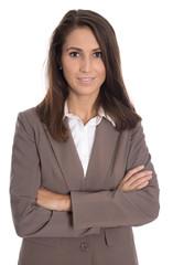 Erfolgreiche junge Karrierefrau