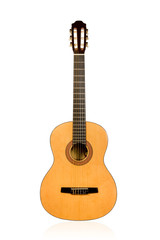 Classical acoustic guitar light brown