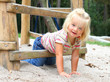 Little girl on a playground.