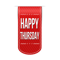 Happy thursday banner design