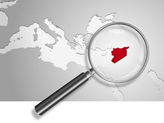 Landkarte *** Syrien